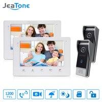 JeaTone 7 Inch HD Video DoorPhone Doorbell Touch Panel Monitor 2v2 Doorman Camera With IR Night