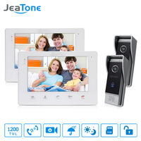 JeaTone 7 Inch HD Video DoorPhone Doorbell Touch Panel Monitor 2v2 Doorman Camera With IR Night