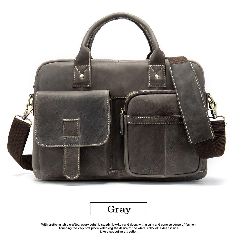 HTB1zbjuayHrK1Rjy0Flq6AsaFXa6 WESTAL men's briefcase bag men's genuine Leather laptop bag office bags for men business porte document briefcase handbag 8503