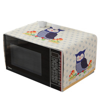 RUBIHOME Animal Owl Dust Cover For Microwave Oven Linen Faric Dustproof Home Decor 38x98cm