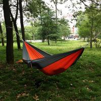 Portable Outdoor Traveling Camping Parachute Nylon Fabric Hammock For Two Person 8 Colors 39