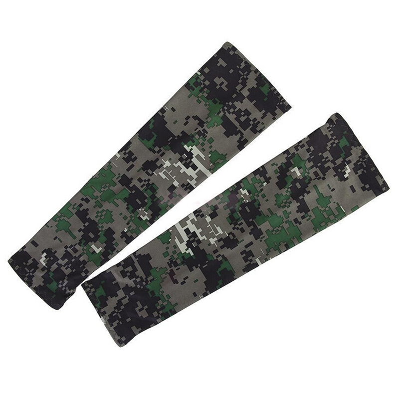 1 Pair Ciclismo Cycling Camouflage Arm Sleeves Sun UV Protection Bike Bicycle Armwarmers For Outdoor Games Sports Cycling Hiking