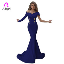Off Shoulder Mermaid Evening Party Dresses 2019 Long Evening
