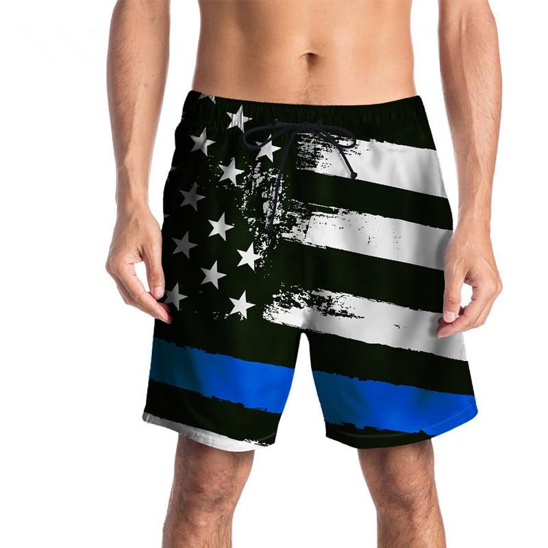 USA SIZE 2018 summer five pants Star flag Digital printing beach pants for men Vacation   Shorts   Fashion Men   Board     Shorts   New