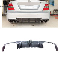 C Class carbon fiber( C63 Car body kit) rear lip rear spoiler tail lip for Mercedes Benz w204 C63 12 UP Car styling use