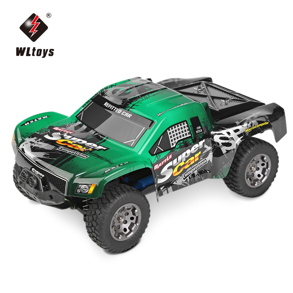 Wltoys rc electric truck 1 12 scale 2 4g 4wd high speed 45km h