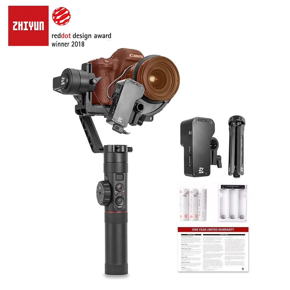 Oficial de ZHIYUN grúa 2 3 eje estabilizador de cámara con Control de enfoque para todos los modelos de DSLR cámara sin espejo