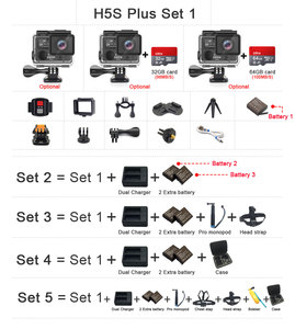 Image 2 - EKEN H5S בתוספת פעולה מצלמה HD 4K 30FPS עם Ambarella A12 שבב בתוך 30m עמיד למים 2.0 מגע מסך EIS ללכת ספורט מצלמה פרו