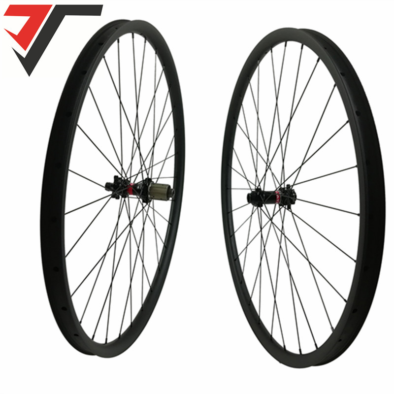 2Pcs 29er Carbon Mountain Bike Rims Bicycle Rim MTB Super light Hookless For XC