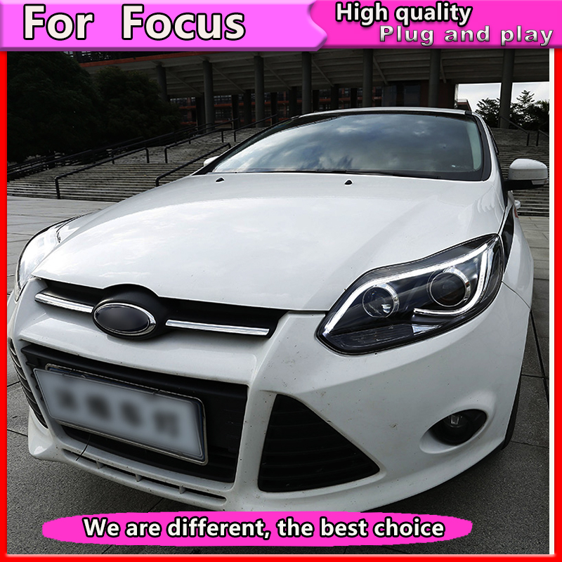 Car Styling Assembly for Focus 2012 -2014 Headlights focus  LED Headlight DRL Lens Double Beam Bi-Xenon HID