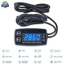 Светодиодный измеритель температуры, термометр для бензиновых и морских подвесных параметров, культиватор