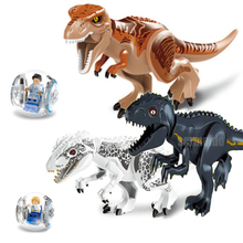 Jurassic World 2 Park Tyrannosaurus Indominus Rex Indoraptor Building Blocks Dinosaur Figures Bricks Toys Compatible Legoings legoings jurassic world 2 tyrannosaurus rex building blocks jurassic dinosaur figures bricks toys collection toy