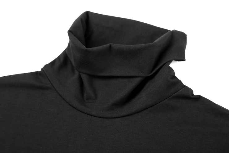 סתיו אביב בגדים חדשים גברים מוצק צבע השפל חולצה Slim למתוח לייקרה כותנה ארוך צווארון חולצה