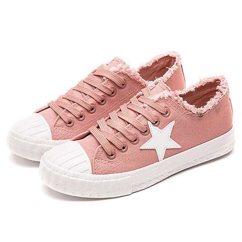 Women Canvas Shoes 2019 Fashion Chunky Sneakers Wom