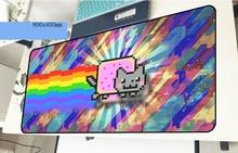 Nyan cat геймерский коврик для мыши милый 800x400x2 мм игровой коврик для мыши массовый блокнот с рисунком pc Аксессуары для ноутбука padmouse эргономичный коврик