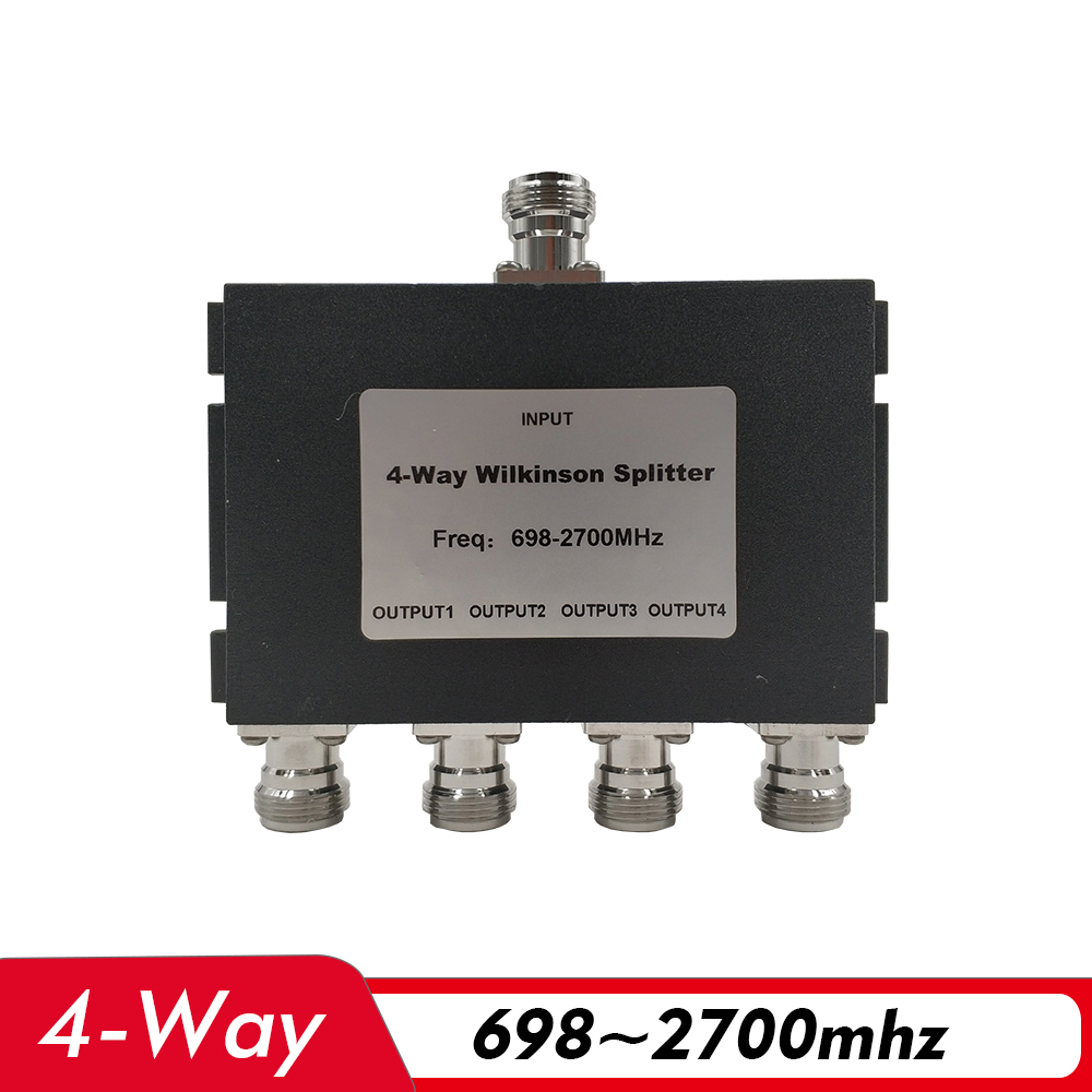 4-Way Power Splitter 698~2700MHz N-Female 4 Way Power Divider For Cell Phone Signal Booster Repeater Amplifier Antenna Cable