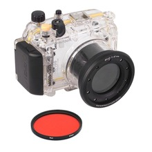 цена на Meikon 40m 130ft Waterproof Underwater Housing Case Cover Bag For Sony DSC-RX100 Camera With 67mm Red Filter