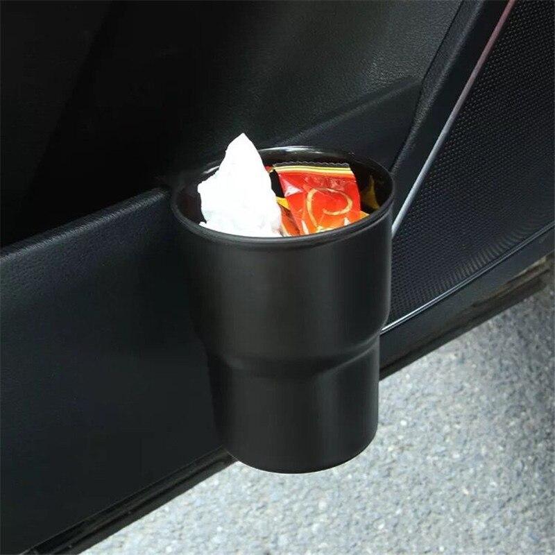 Cubo de basura Universal funda de polvo de basura automática cubo de basura accesorios para automóviles organizador de coches cubo de basura Mini