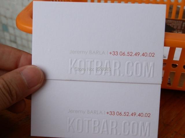 Haute Qualit Carte De Visite Papier Dimpression Blanc Coton 300gsm