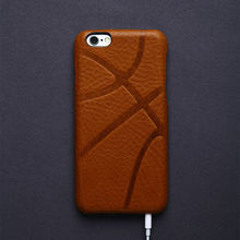 Luxury Retro Italian Leather Case for iPhone 6 6s Accessories Vintage Phone Cover Bag for iphone 7 plus case Basketball pattern