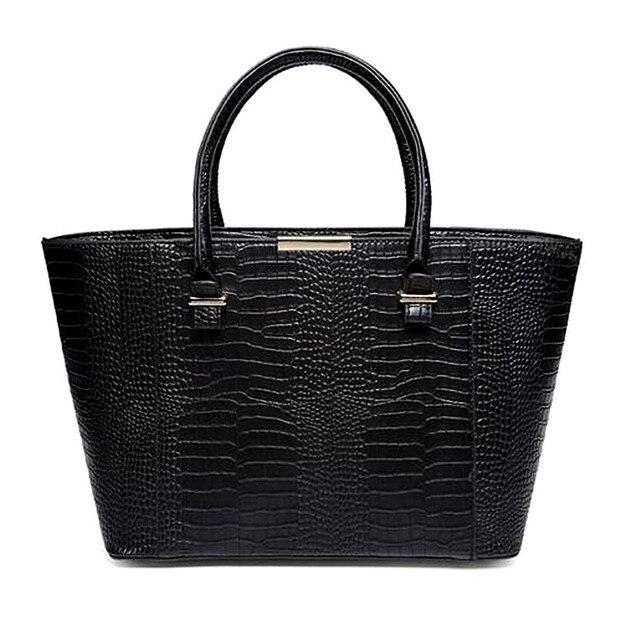 Woman Bags Fashion Designers Vintage Casual Tote Bag Black Handbags Shoulder Alligator Purse Bolsos