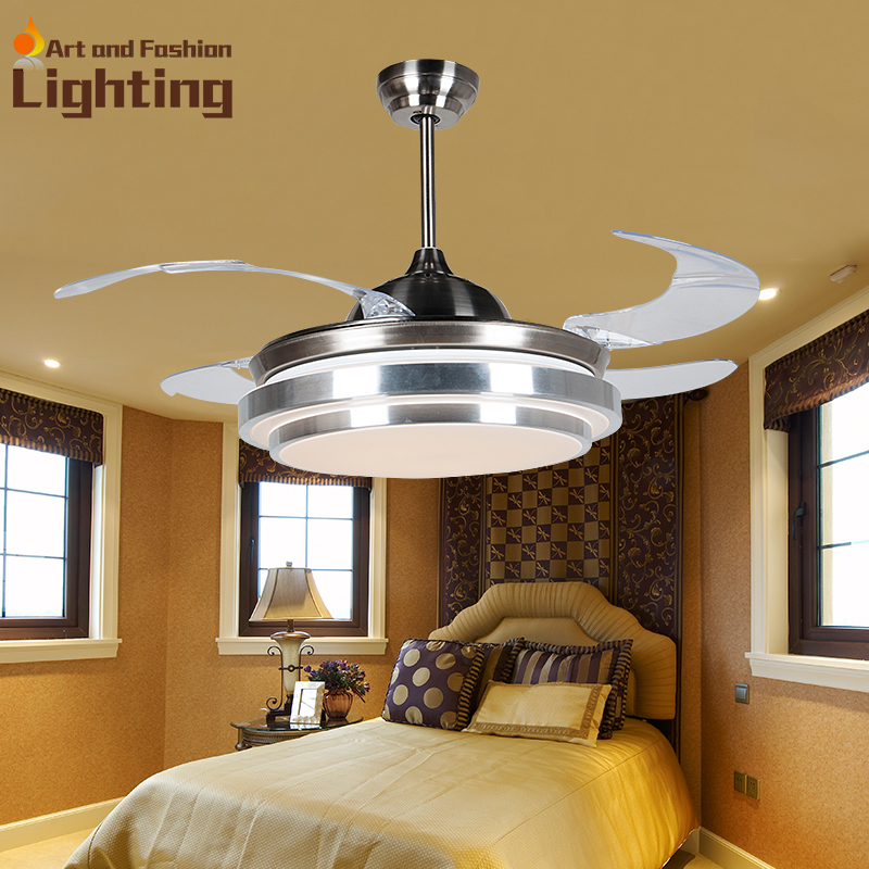 Remote control ceiling fan with lights 4 color dimmer 4 - Bedroom ceiling fans with remote control ...