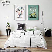 HAOCHU Vintage Picture I Want To Ride My Bike Movie Poster Bar Retro Canvas Painting Wall