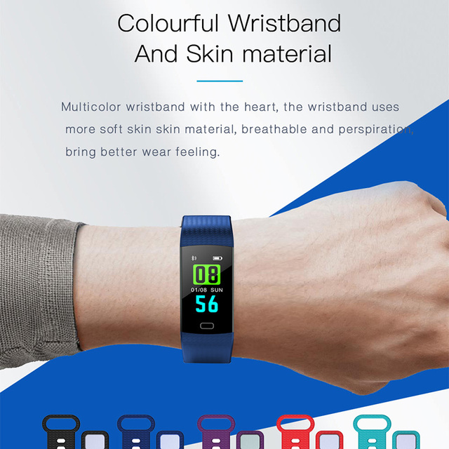 Y5 Smart Band Watch Color Screen Wristband Heart Rate Activity Fitness tracker Smart Electronics Bracelet VS  Miband 2 2