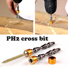 Cross Head Screwdriver Bit Magnetic Connection Post Screw Driver 5pcs/1set Metal Parts Hex Shank Drywall Tool Accessories