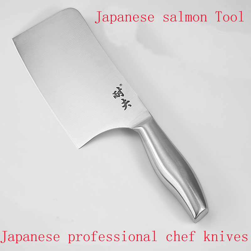 Quality stainless steel Japanese style chef cooking present slicing chef font b knife b font multifunctional