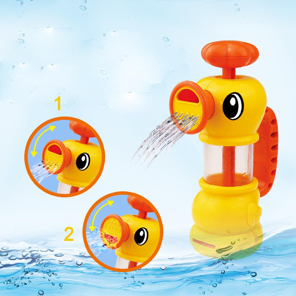 Hiinst bath toys 2017 Lanpet Cikoo ABS Toy for Kids Water Pistol Spray Pump Duck Swimming Pool Bathtub *R Drop