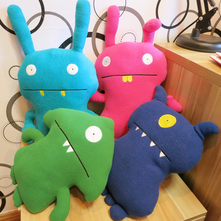 Candice guo! Super Meng plush toy big teeth Uglydoll stuffed doll cushion creative monster birthday gift 1pc