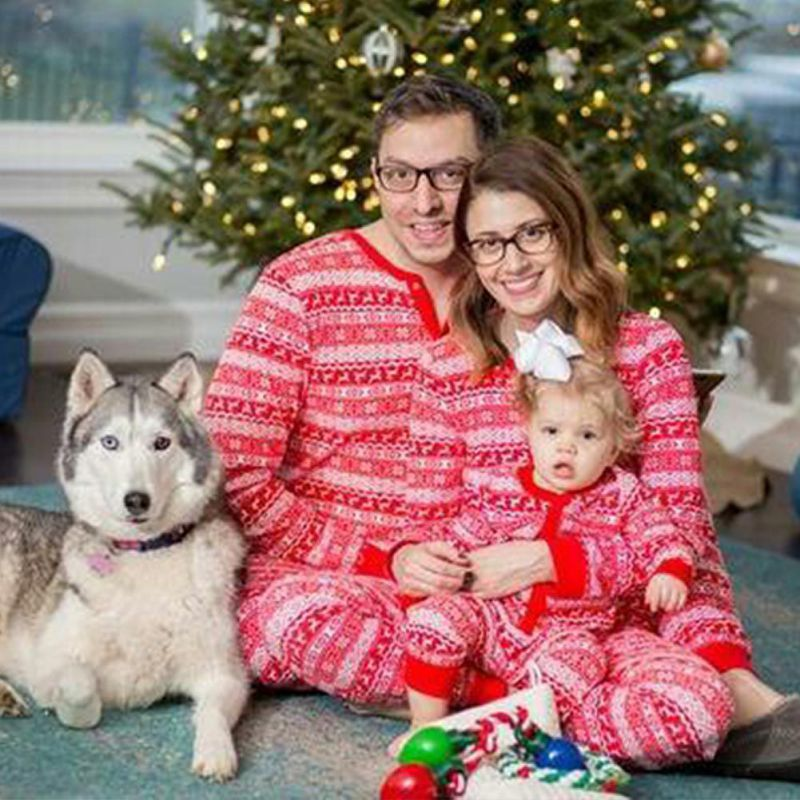 New Family Christmas Dear Pajamas Matching Clothes Xmas Red Mama Women Family Matching Christmas Pajamas Sets
