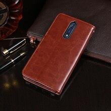 Case For Nokia 8 5.3inch Luxury Premium Leather Wallet Flip TA-1012 TA-1004 TA-1052 Fundas Coque