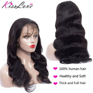 Image 5 - Full Lace Human Hair Wigs for Black Women Preplucked Bleached Knots Full Lace Wigs Brazilian Body Wave Wigs Remy Hair Kiss Love