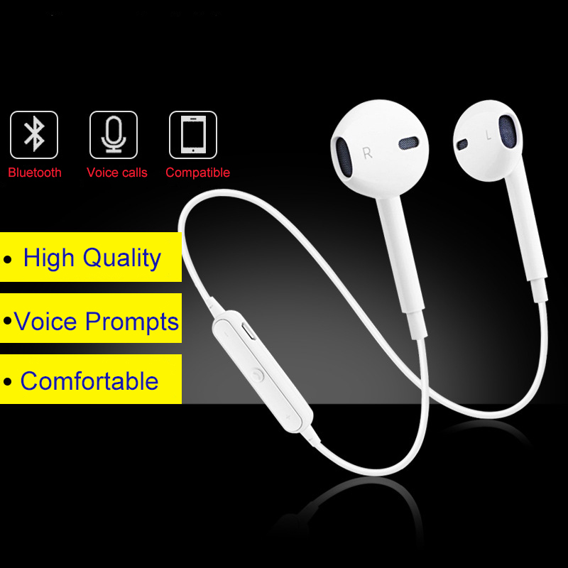 ELRVIKE <font><b>S6</b></font> Wireless Headphones <font><b>Bluetooth</b></font> Headset Foldable Adjustable <font><b>Earphones</b></font> With Microphone For PC mobile phone Mp3 image