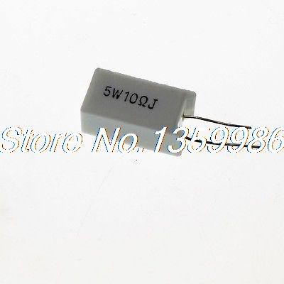 10 Pcs 5W 10 Ohm 5 Watt Ceramic Cement Power Resistor 500m ohm axial leaded high voltage glass glaze resistor 5w watt