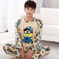 2016 nuevo invierno gruesa pijama de franela informal chándal manga larga traje de Primavera