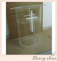 Plexiglass Cheap Pulpit Acrylic Lectern Podium Rostrum Pulpit Acrylic Dais Clear Acrylic Church Podium Stand