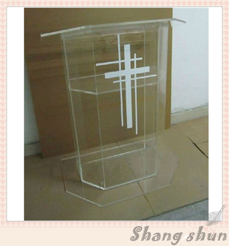 Plexiglass Cheap Pulpit, Acrylic Lectern/Podium Rostrum/Pulpit Acrylic Dais Clear Acrylic Church Podium Stand