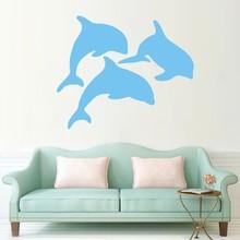 Interior Design Animal Wall Stickers Ocean Sea Dolphin Kids Nursery Decals PVC Adhesive Muraux Bedding Decor SYY190