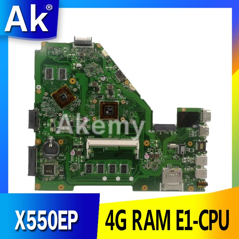 AK X550EP Laptop motherboard for ASUS X550EP X550E X552E Test original mainboard 4G <font><b>RAM</b></font> E1-CPU image
