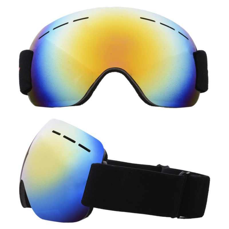 Thương Hiệu Trượt Tuyết Kính Hai Lớp UV400 Chống Sương Mù Lớn Mặt Nạ Trượt Tuyết Kính Trượt Tuyết Unisex Tuyết Gạt Mưa Kính
