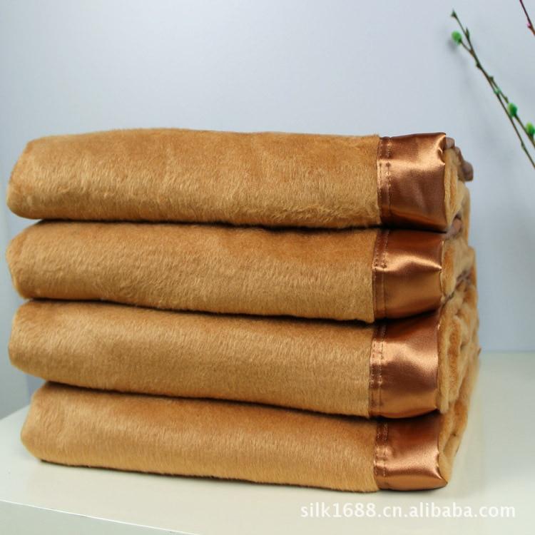 Silk Throw Blanket Textured Solid Soft for Sofa Couch Cozy Decorative Blanket 200cmx230cm Khaki