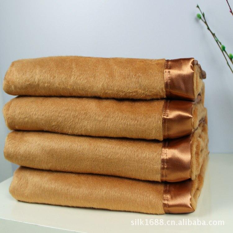 Soie Jeter Couverture Texture Solide Souple pour Canapé Canapé Confortable Décoratif Couverture 200 cm x 230 cm Kaki