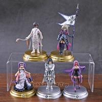 5pcs/set Action Figure Fate Grand Order Duel vol.3 Collection Scathach Mash Gilgamesh Merlin Medb Model Saber Figure Toys