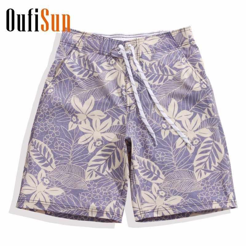 Oufisun 2018 New Hot Men Summer Shorts Board Shorts Men Beach Homme Bermuda Short Pants Quick Dry Silver Boardshorts Men