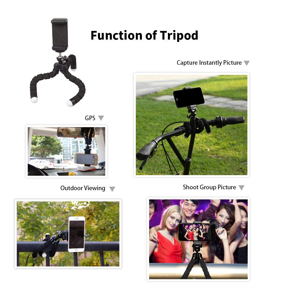 APEXEL 3 in 1 Phone Lens Kit +Tripod With Bluetooth 18X Telescope Fisheye Wide Angle telephoto Macro Lens For All Smartphones