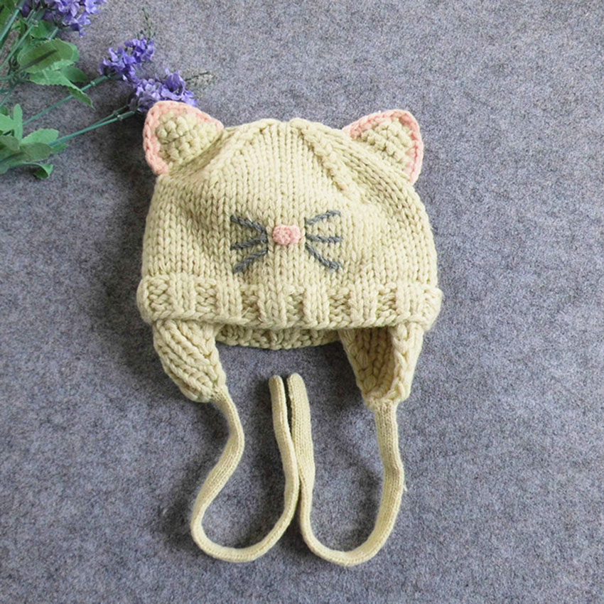 Cute kitten beanie for babies
