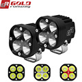 GOLDRUNWAY 40 W U3 Motorfiets Koplamp spotlight 4200lm extra LED verlichting mistlamp CNC gefreesd Aluminium Behuizing